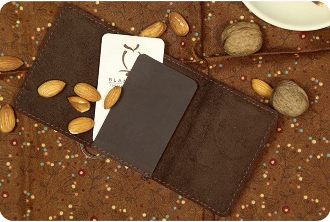 Genuine Leather Credit Business card wallet Case Card ID card holder Unisex