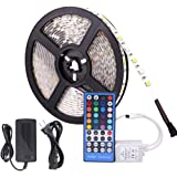 LED Light Strip Waterproof 5 Meter 300LEDs 5050SMD RGBW LED Strip Full Kit with 40Key Remote Control and 12V 5A Power Supply