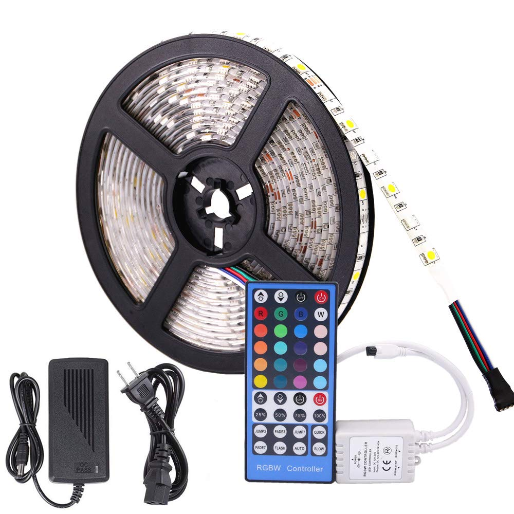 Led Strip Lights With Remote Waterproof Rgbw Rope Light 164feet Quick Adapter Wiring Connector Multi Color Rgb 5050smd 300leds Changing Full Kit