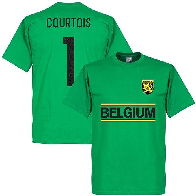 Retake - Camiseta del Equipo de Cortois de Bélgica, Color Verde: Amazon.es: Ropa y accesorios