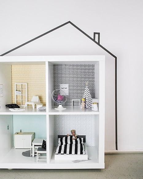 Limmaland Pared Adhesivo Casa de Muñecas (Apto para tu IKEA Kallax. (Color Mostaza
