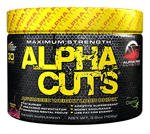 Alpha Pro Nutrition - Alpha Cuts, Advanced Weight Loss Drink & Pre-Workout Fat Burner, Tropical Fruit Punch, 30 Servings