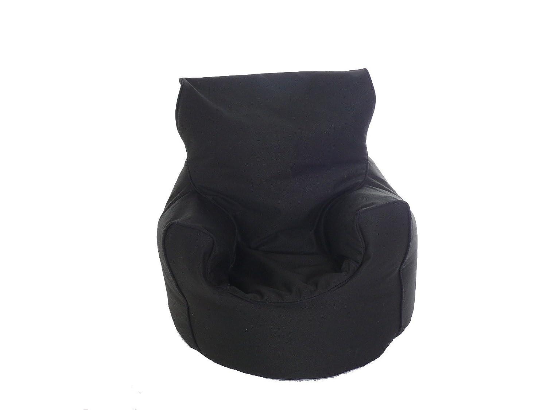 Kiddies Bean Bag Seat Arm Chair With Beans Black BeanLazy