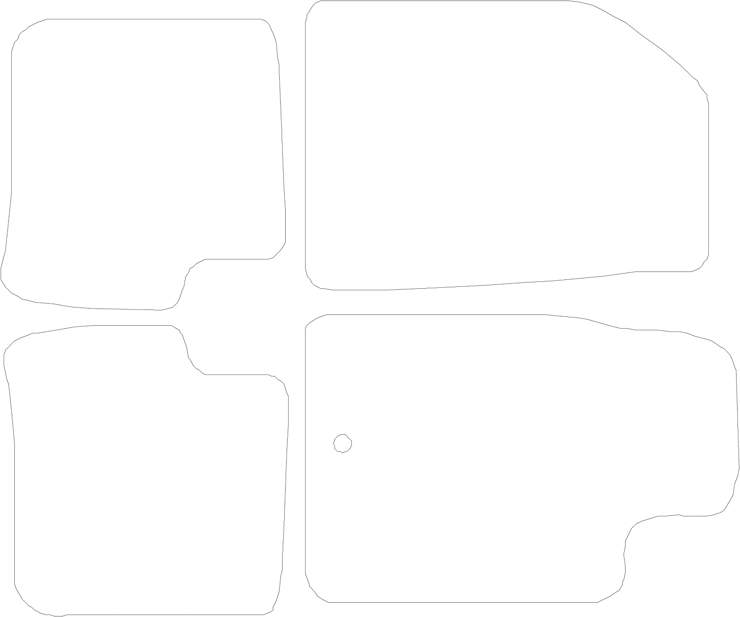 Grey with Red Trim 2002-2007 Connected Essentials CEM650 Car Mat Set for Smart Fortwo Premium