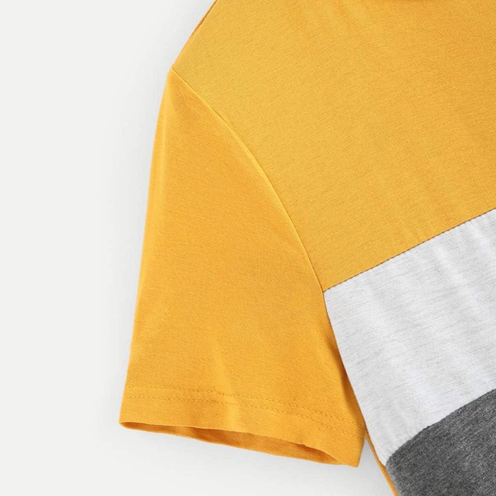 YEBIRAL Camisetas de Verano para Mujer Casual Lentejuela ...