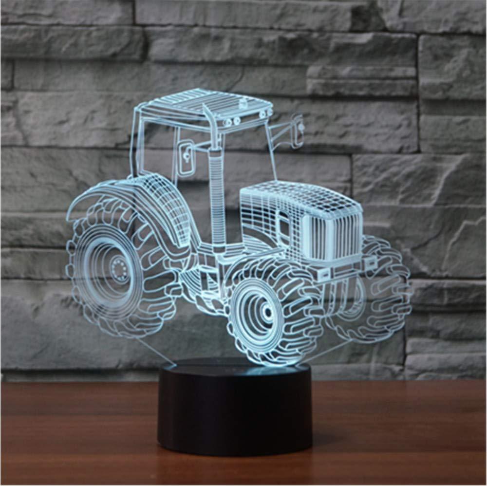 Zyyymx Luces De Juguete Para Niños Tractor Led Luces Luces Luces De Noche Cambio Colorido Lámpara De Noche 3D Para Niños Como Decoración De Sala De Estar a7668e