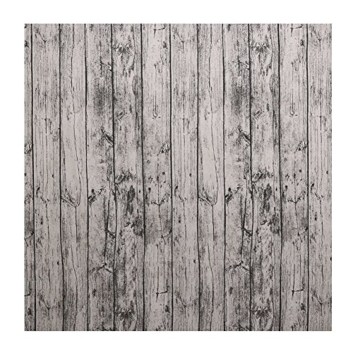 ttnight Natural Wooden Grain Pattern Tablecloth Photo Shoot Background Cloth Cotton Fabric Table Cover Decoration (55 x 55 Inch)