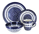 Product review for Polish Pottery Flowering Peacock 4 PC Dinner Set