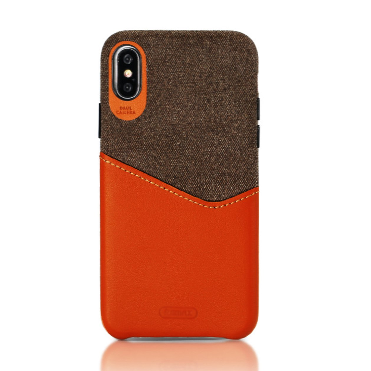 Lunazoe iPhone X case and Card Slot Leather Slim Back Cover Creative Protective Cell L001y/iphoneX/black/h