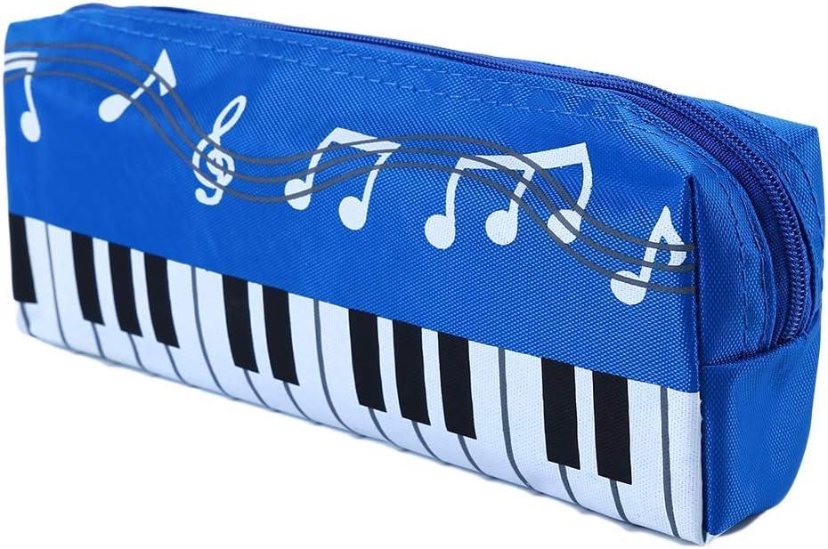 Weryffe Notes de musique Pen Case /Étanche Durable Nylon Papeterie Poche Portable Porte-Stylo Sacs Maquillage Cosm/étique Sac