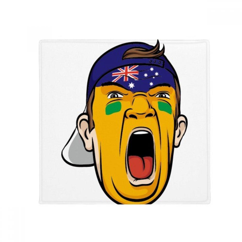 DIYthinker Australia Flag Facial Makeup Mask Screaming Cap Anti-Slip Floor Pet Mat Square Home Kitchen Door 80Cm Gift