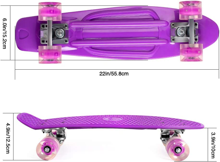 BELEEV Skateboard Complete Mini Cruiser purple - 1