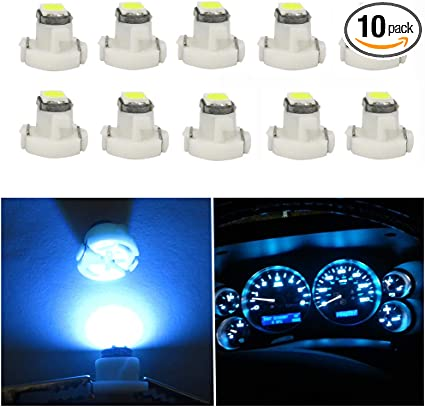 T3 8mm Neo Wedge LED SMD Blue Dashboard Cluster Speedo Panel Interior Bulb Lamp