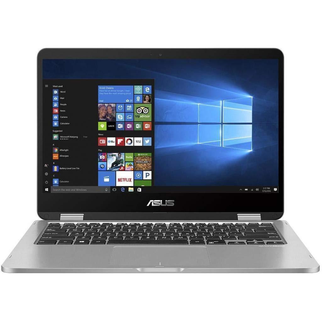 New ASUS VivoBook 2 in 1 Flip 14'' FHD LCD Touchscreen Laptop Computer, Intel Pentium N5000 up to 2.7GHz, 4GB LPDDR4, 64GB eMMC, Bluetooth, Webcam, Micro HDMI, Fingerprint Reader, Window 10 in S Mode