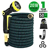 Newly Upgraded and Innovative Designed Garden Hose, Let you enjoy the perfect gardening life from expandable water hose, save space and stay strong. ★ Innovative Design Garden Hose The innovative design of the new generation of garden hose ca...