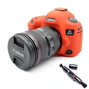 Suave silicona goma funda para cámara funda para Canon EOS 5D4 5d mark IV Protector funda piel de cuerpo para cámara Canon 5d 4 lente Pen