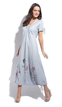 Couleur Lin Dress Juliette Light Grey Women Spring/Summer Collection ...