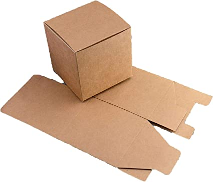 Caja de cartón de regalo de 30 tamaños, color negro, papel kraft para embalar cajas de