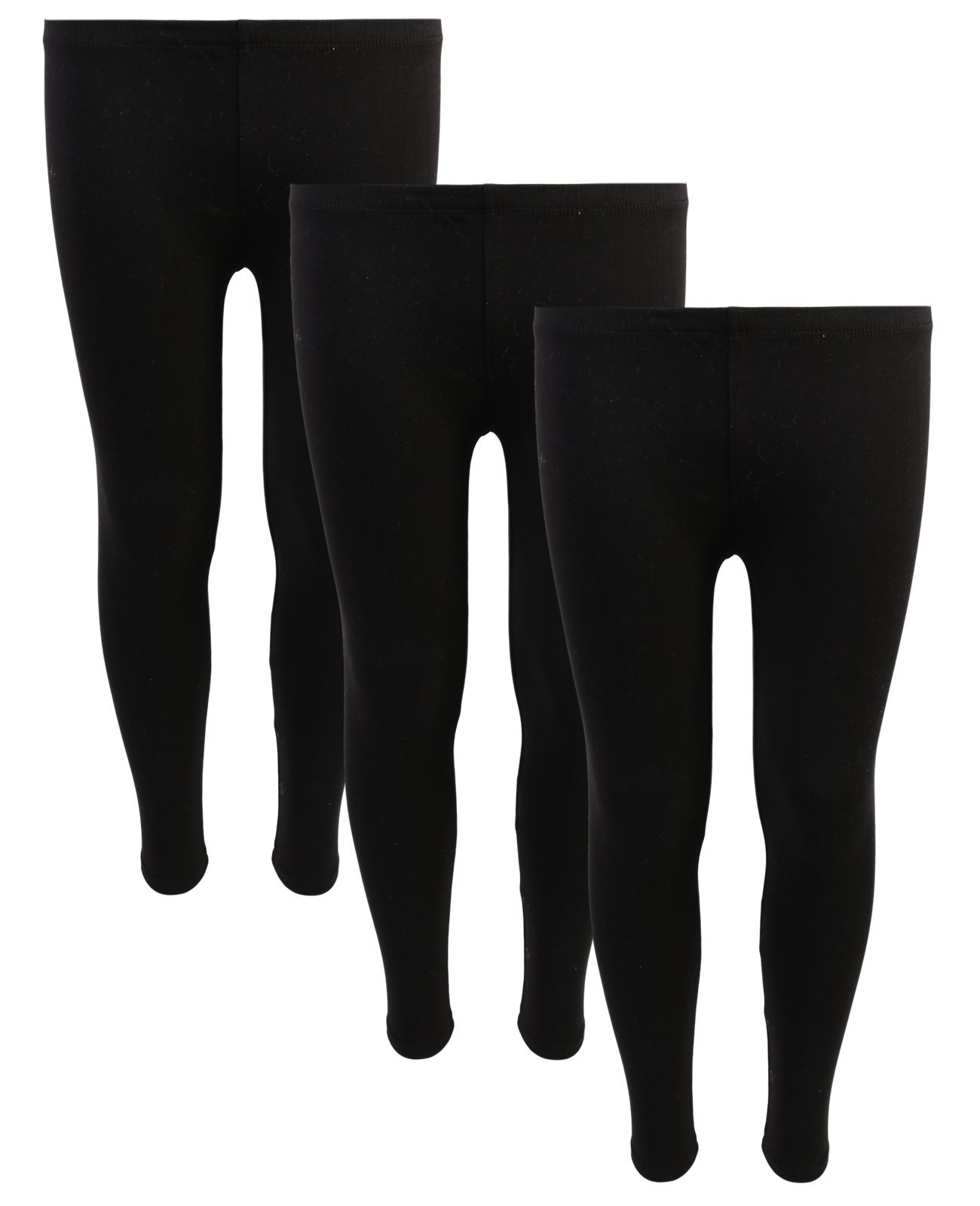Delia's Girls Solid Leggings (Pack of 3) Black, 10/12