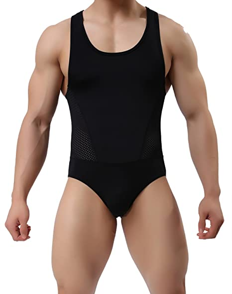 8ee4cddbb2 Mens Fitness Sports Jumpsuits Swimsuit Yoga Bodysuit Jumper Vest (S / 26-29,
