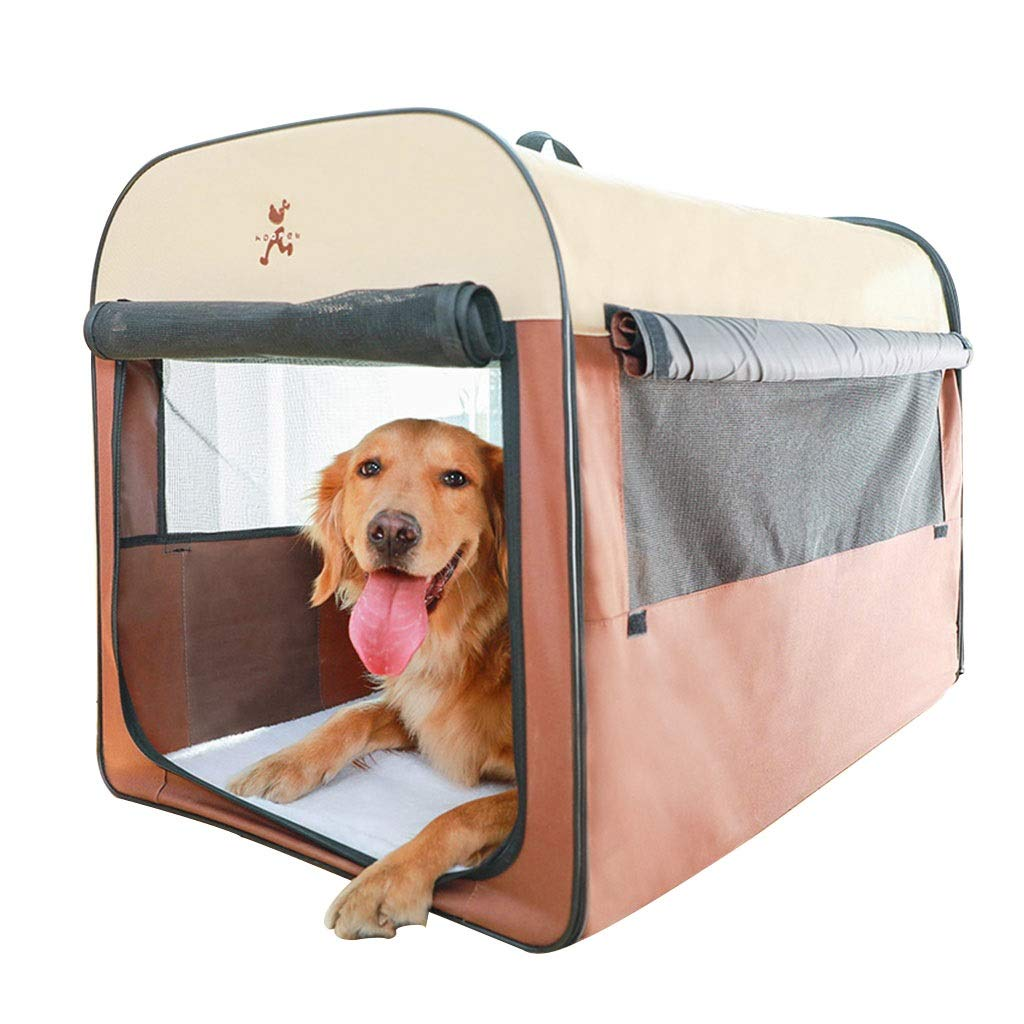 Brown 905863cm Brown 905863cm Playpens & Pens Foldable Pet House Removable Cat Room Indoor Pet Nest Four Season Pet Tent Portable Outdoor Tent Car Travel Tent Best Gift (color   Brown, Size   90  58  63cm)