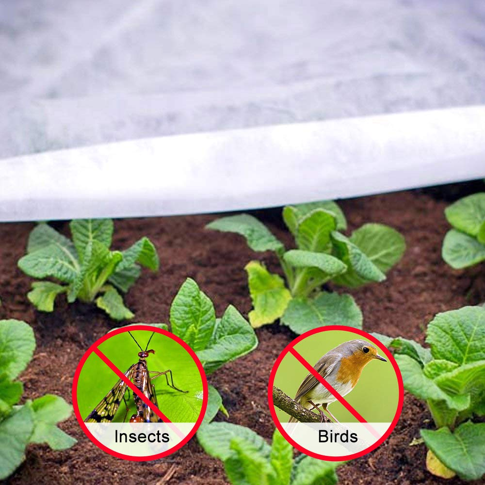 Frost Blanket for Vegetables and Crops UniEco Fabric Plant Cover Medium Weight 1 Oz Reusable Floating Row Cover 7 x 50