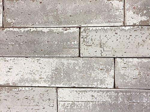 2.5x9.5 London Soft Gray Smoke Glazed Extruded Brick Wall Field Tile (BOX OF 10) - Brick Tile Flooring