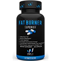 Fat Burner Superior Weight Loss Supplements - Garcinia Cambogia BioPerine Blend - Thermogenic Fat Burners Without Crash - Vegan, Non GMO, Veggie Diet Pills for Men & Women – 120 Capsules