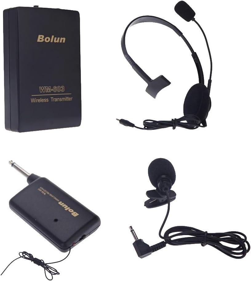 H HILABEE Micrófono Receptor De Auriculares Receptor Inalámbrico Clip En Micrófono De Solapa