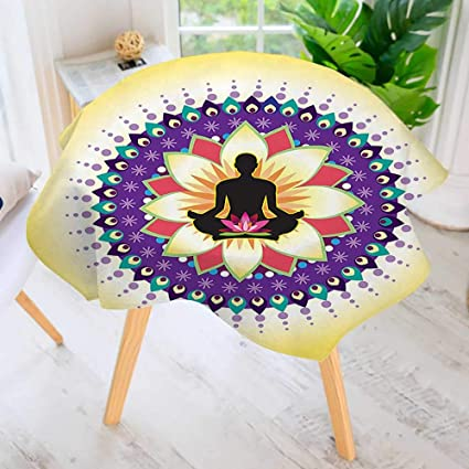 Amazon com: UHOO2018 Circular Solid Polyester Tablecloth