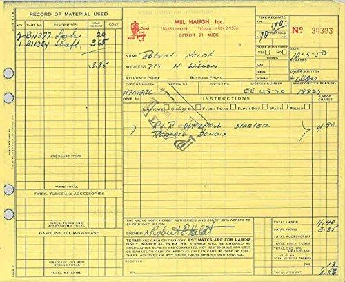 1949 Mercury Club Coupe Service Repair Invoice ()