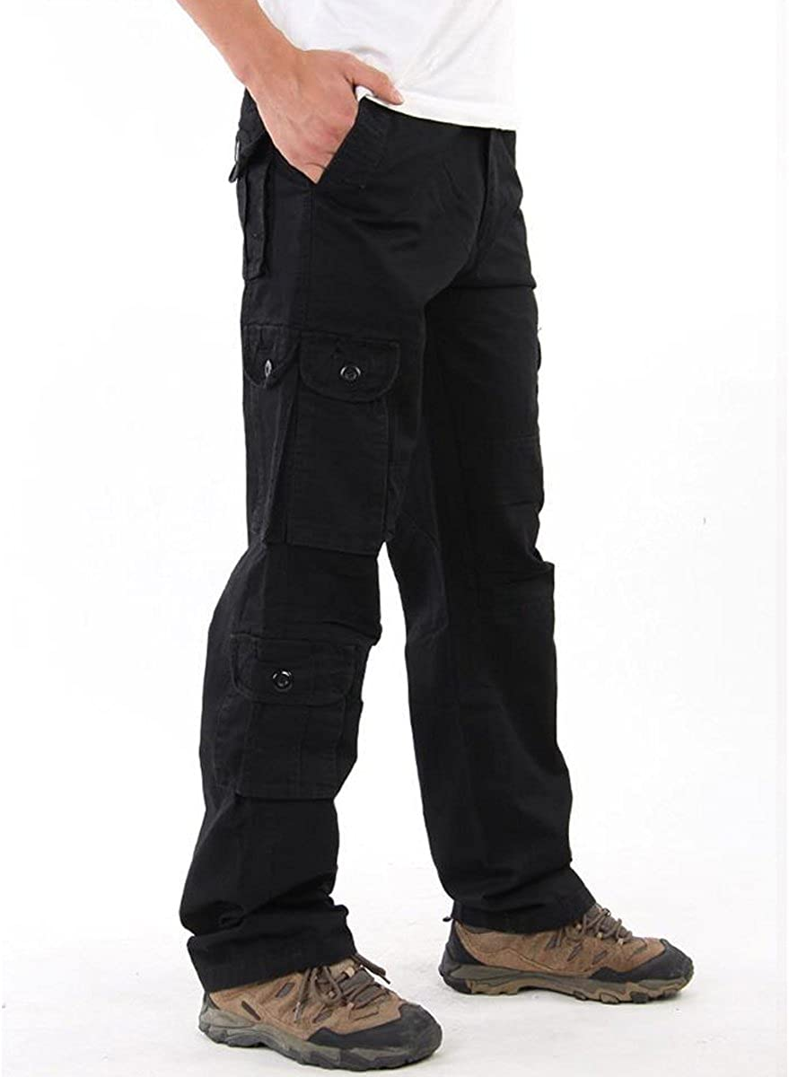 Aiya Mens Casual Military Army Style Cargo Camo Combat Work Pants Trousers