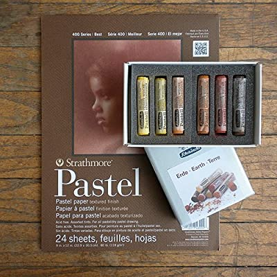 Schmincke Finest Extra-Soft Earth Set of 6 With Strathmore Pastel Pad