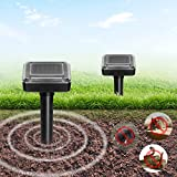 FitMaker Solar Powered Mole Repellent, Solar Repel Mole, Chaser Mole Gopher Vole Repeller Spikes for Yard Lawn Garden Waterproof (Updated Version)