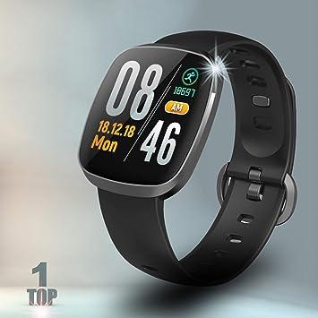 8d0875f7b4 Amazon.co.jp: 多機能 最新版 スマートウォッチ 血圧 心拍計 血中酸素 ...
