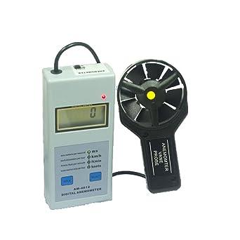 teren-am-4812 Handheld Medidor de Velocidad del viento anemómetro Air Velocity Calibre Sensor