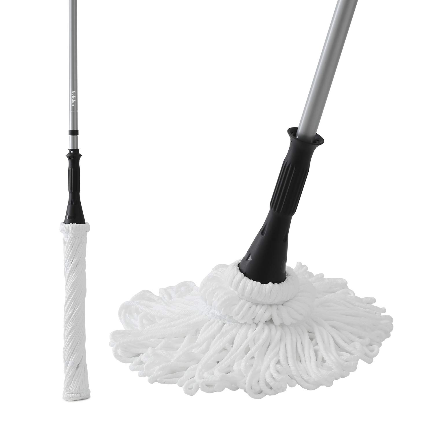 Ey.liden Microfiber Twist Mop Easy Self Wringing Mop with 2 Microfiber Heads for all Sort of Floors Wooden Floor Tiles Matte Finish Floor Tiles by Ey.liden