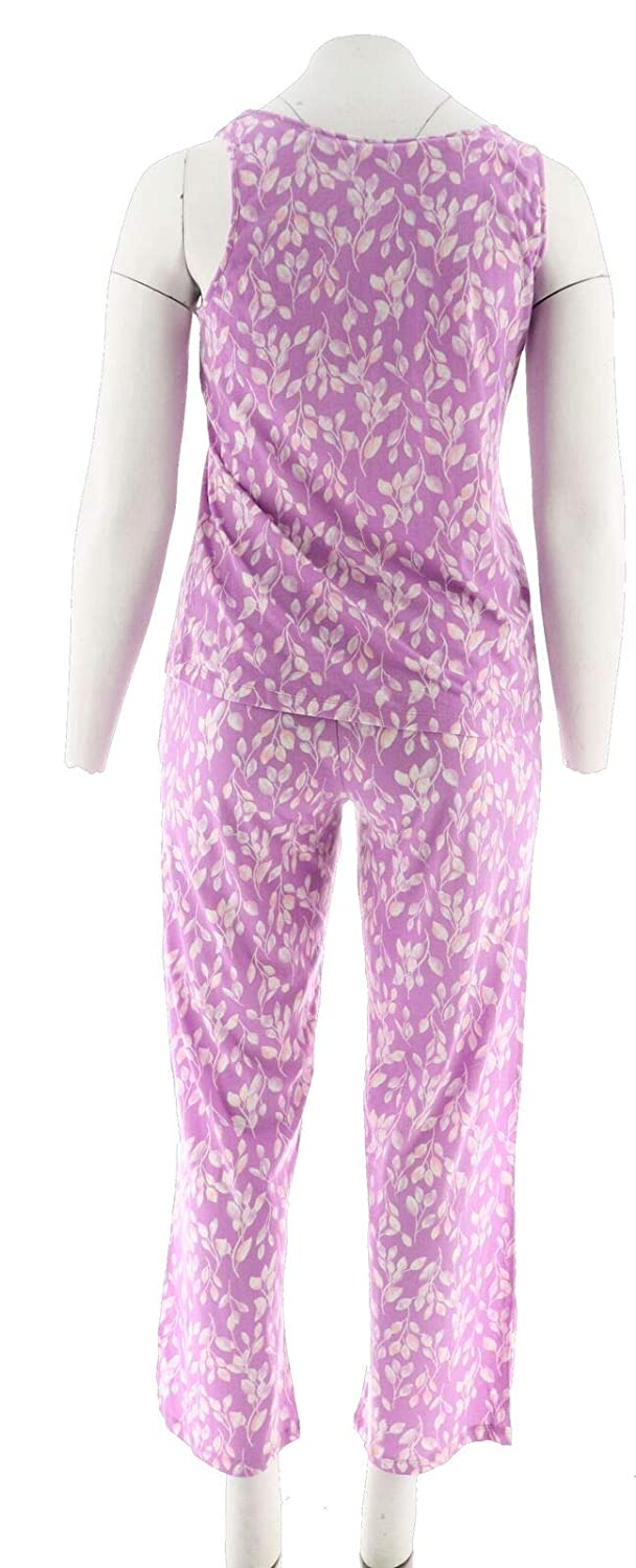4b515a64f2 Carole Hochman Floral Vine Cotton Jersy 3Pc Pajama Set A291534 at Amazon  Women s Clothing store