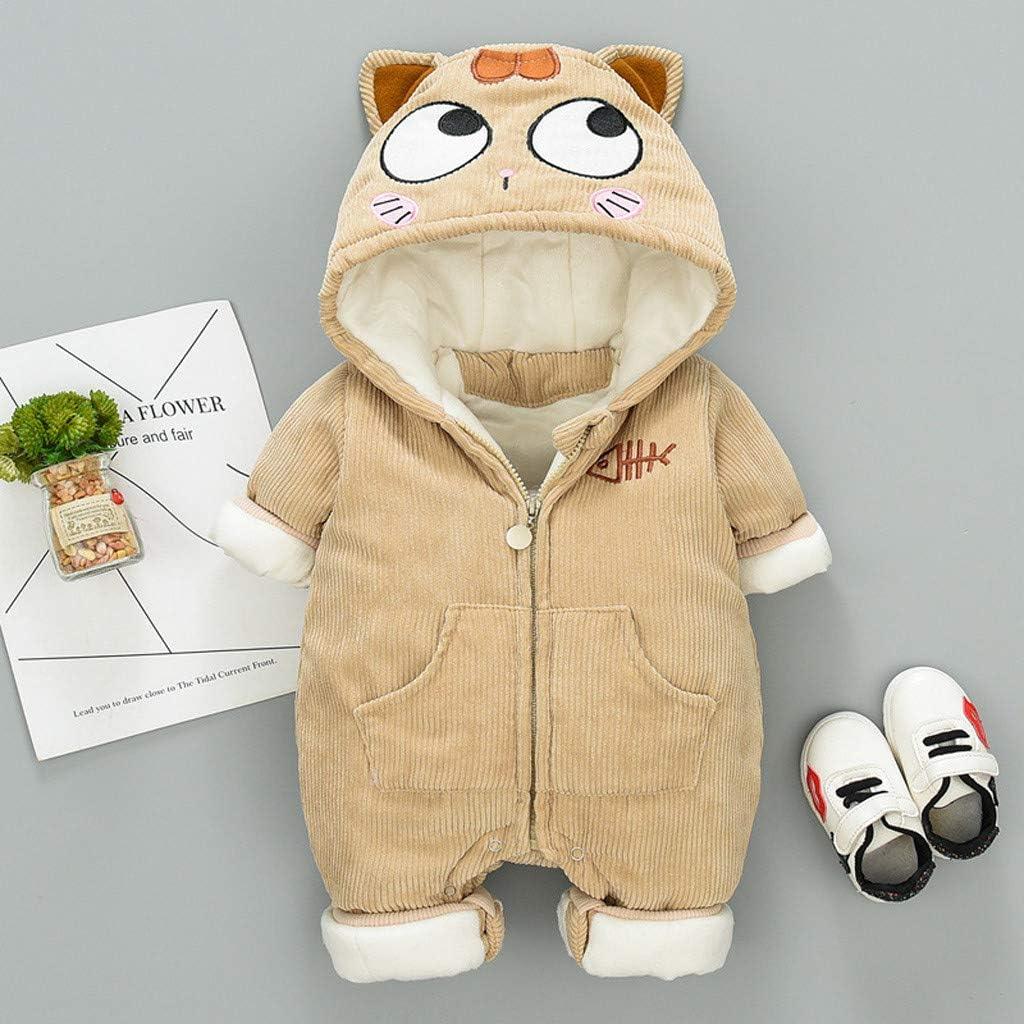 SHUBHU Kids Cartoon Kangaroo Ears Hooded Pullover Romper Jumpsuit Playsuit Coat