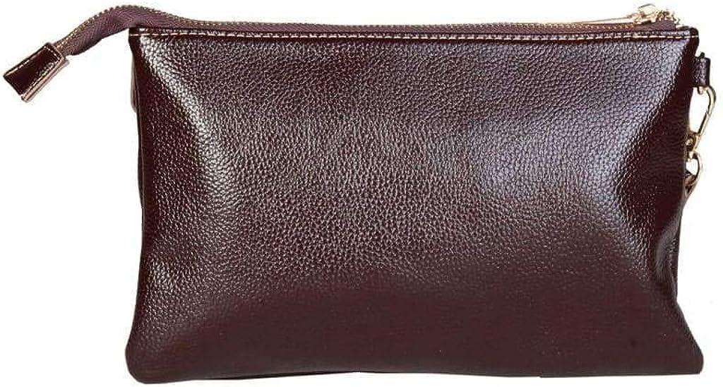 Laura Biagiotti Brown Leather Clutch Bag