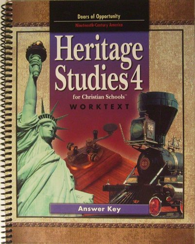 Heritage Studies 4 Worktext Answer Key 2nd Edition