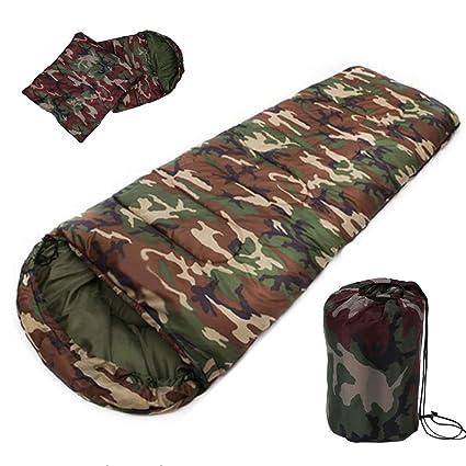 TAFUFALI - Saco de Dormir de algodón para Acampada, 15~5 Grados, Estilo