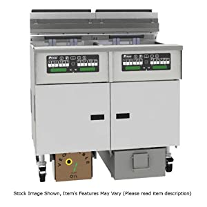 Pitco SELV184-C/FD Solstice Reduced Oil Volume Electric Fryer w/ (1) 40 lb Tank (17 kW)