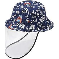 Happy Cherry Kids Sun Hat with Detachable Face Visor Shield Infant Wide Brim Bucket Hat