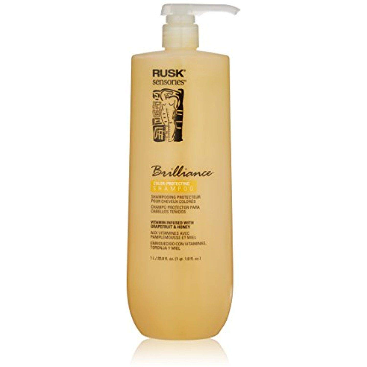 RUSK Sensories Brilliance Grapefruit and Honey Color Protecting Shampoo, 33.8 Fl. oz.