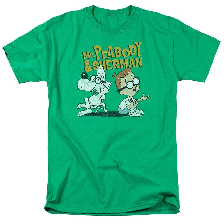 Mr. Peabody & Sherman Cartoon Retro Characters Deep Conversation Adult T-Shirt