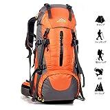 Meily 登山用リュック ナップザック スポーツバッグ 50L 防水 軽量 登山 ハイキング トレッキング キャンプ レインカバー付き