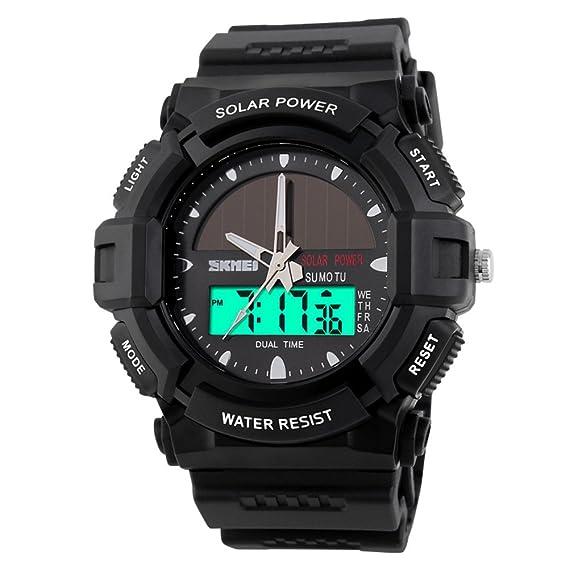 Relojes solares/Moda electrónica doble reloj/reloj de los deportes al aire libre impermeable