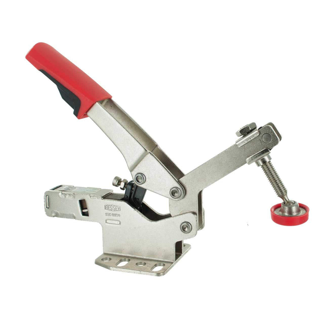 Bessey STC-HH70 Horizontal Auto-Adjust Toggle Nickel Plated Clamp, Silver