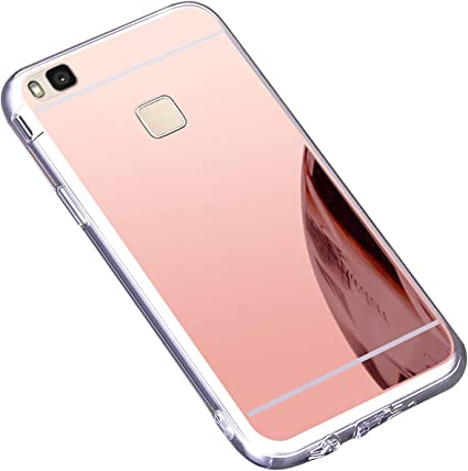 Coque Huawei P9 Lite,Miroir Housse Coque Silicone TPU pour Huawei P9 Lite,Surakey Bling Briller Diamond Coque Miroir Etui TPU Téléphone Coque de ...